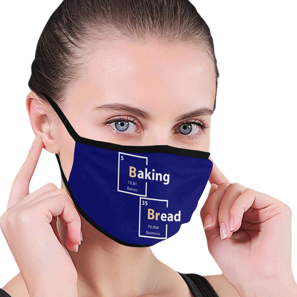Baking Bread Science Funny Washable Reusable Cloth Face Mask With Filter Pocket