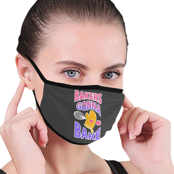 Bakers Gonna Bake Funny Washable Reusable Cloth Face Mask With Filter Pocket