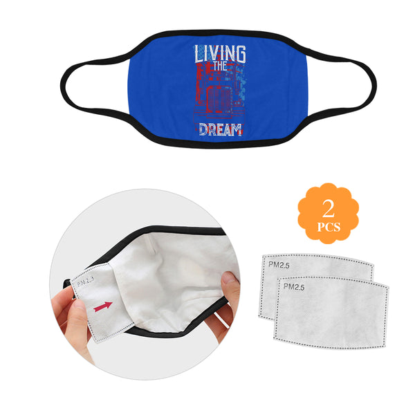 Living The Dream Truckers Washable Reusable Cloth Face Mask With Filter Pocket