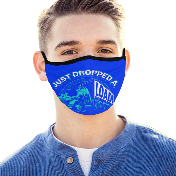 Just Dropped A Load Trucker Washable Reusable Cloth Face Mask With Filter Pocket