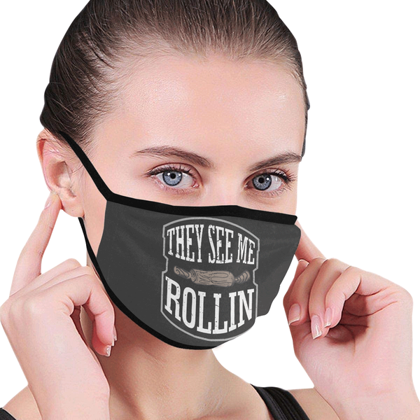 They See Me Rollin Funny Baker Washable Reusable Cloth Face Mask With Filter