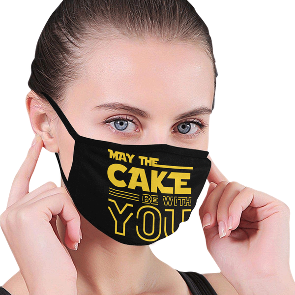 May The Cake Be With You Washable Reusable Cloth Face Mask With Filter Pocket