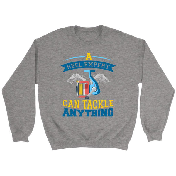 A Reel Expert Can Tackle Anything Funny Unique Uncommon Fishing Gag Gift Sweater-NeatFind.net