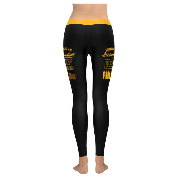 Accountant During Tax Season Its Like Riding A Bike On Fire CPA Womens Leggings-NeatFind.net