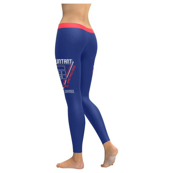 Accountant I Talk To Myself Sometimes I Need Expert Advice Funny Womens Leggings-NeatFind.net