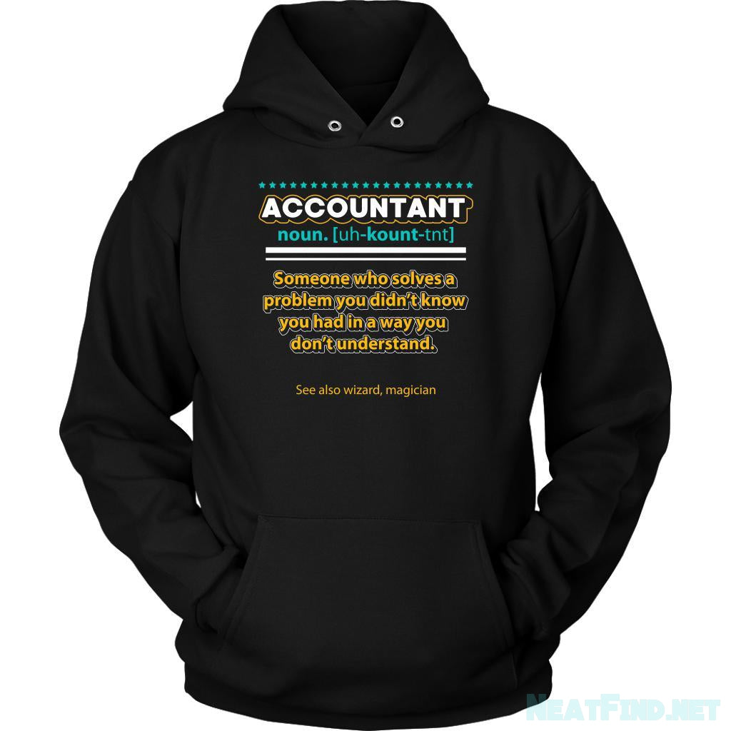 Accountant Noun Solves Problem In A Wizard Magician Way Funny Hoodie-NeatFind.net