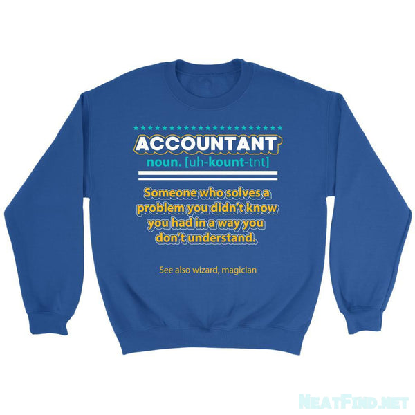 Accountant Noun Solves Problem In A Wizard Magician Way Funny Sweater-NeatFind.net