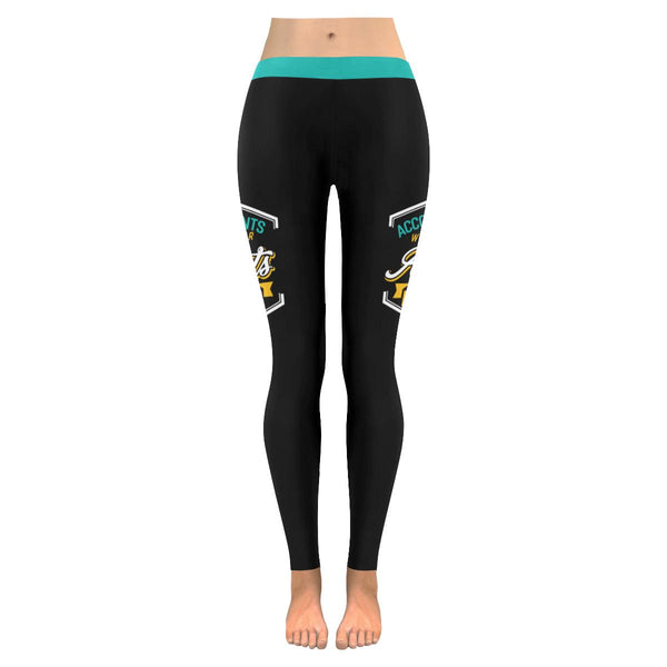 Accountants Work Their Assets Off Creative Funny CPA Gift Ideas Womens Leggings-NeatFind.net