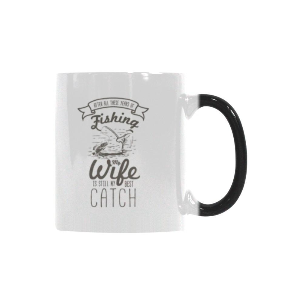 After All These Years Of Fishing My Wife Is Still My Best Catch Color Changing/Morphing 11oz Mug-NeatFind.net
