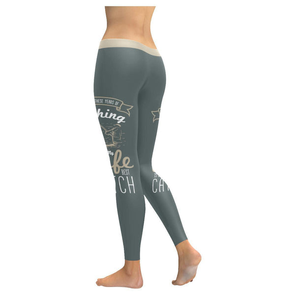 After All These Years Of Fishing My Wife Is Still My Best Catch Low Rise Leggings For Women (3 colors)-NeatFind.net