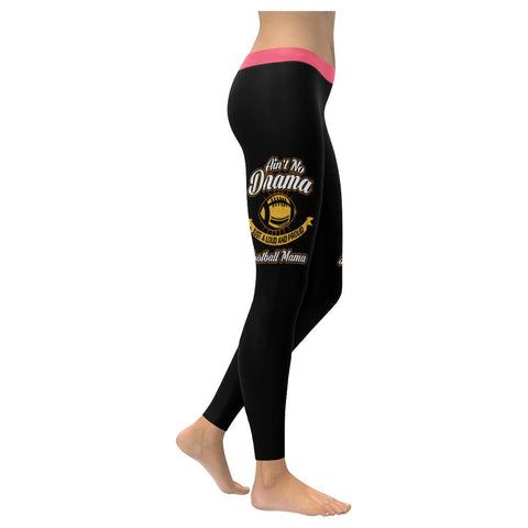 Aint No Drama Just A Loud & Proud Football Mama Gift Idea UPF40+ Womens Leggings-NeatFind.net