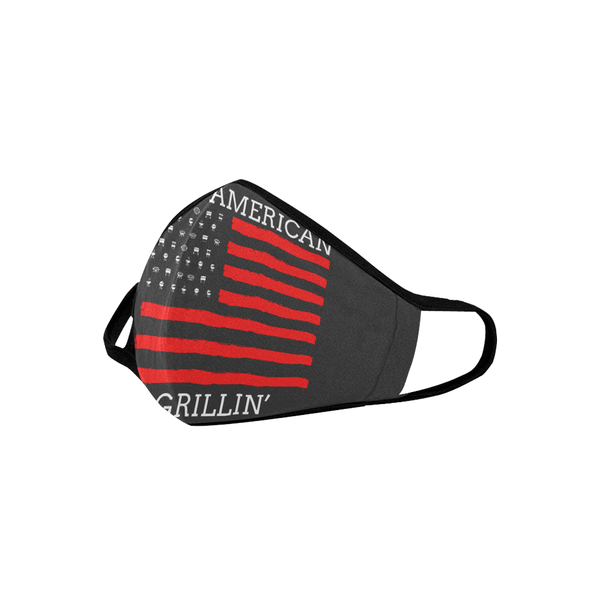 All American Grillin USA Patriotic BBQ Flag Washable Reusable Cloth Face Mask-NeatFind.net