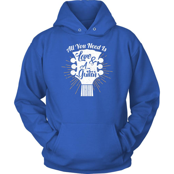 All You Need Is Love & A Guitar Cool Funny Guitarist Unisex Hoodie-NeatFind.net