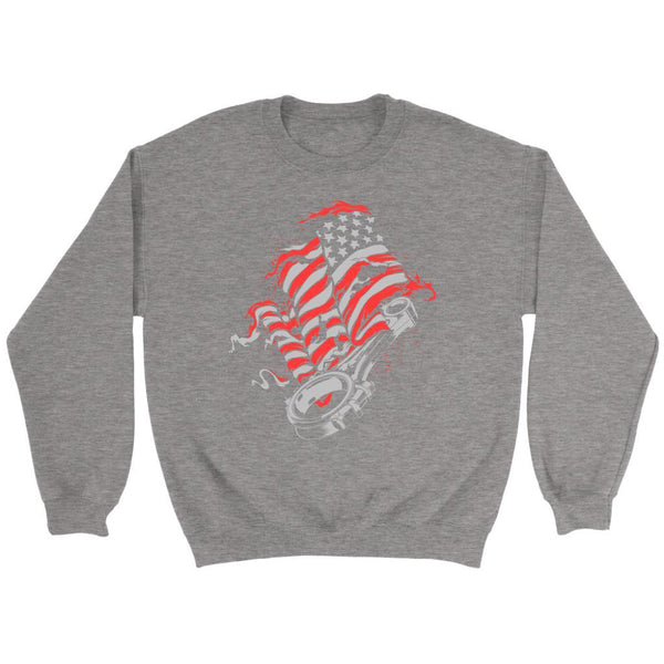 American Patriotic USA Flag Awesome Cool Auto Mechanic Gift Sweater-NeatFind.net