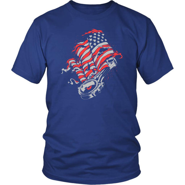 American Patriotic USA Flag Awesome Cool Auto Mechanic Gift Unisex TShirt-NeatFind.net