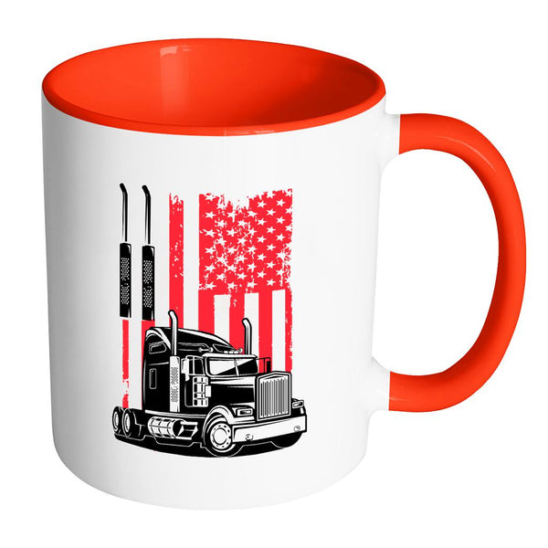 American Patriotic USA Flag Truck Practical Funny Gifts For Truckers 7Colors Mug-NeatFind.net