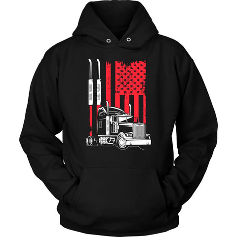 eafa0f6a1 Sale American Patriotic USA Flag Truck Practical Funny Truckers Gifts  Unisex Hoodie-NeatFind.net