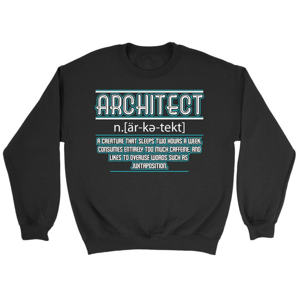 Architect Creature That Sleeps Two Hours Too Much Caffeine Funny Gift Sweater-NeatFind.net
