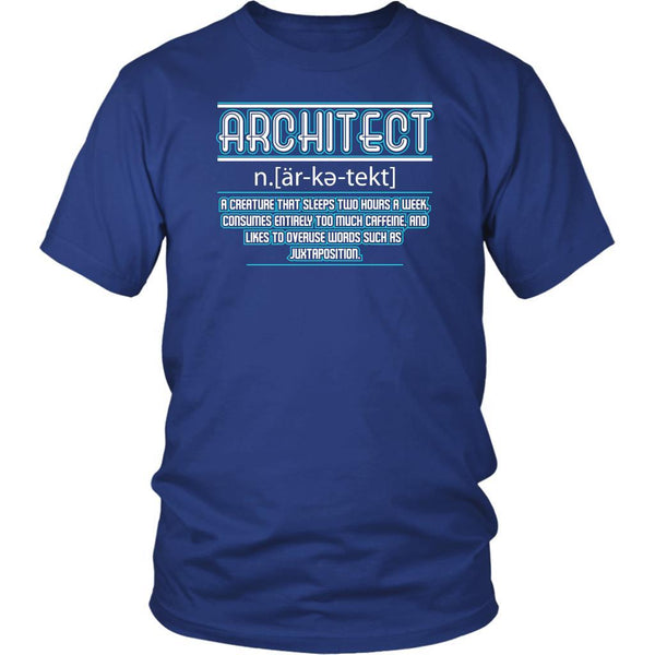 Architect Creature That Sleeps Two Hours Too Much Caffeine Funny Gift TShirt-NeatFind.net