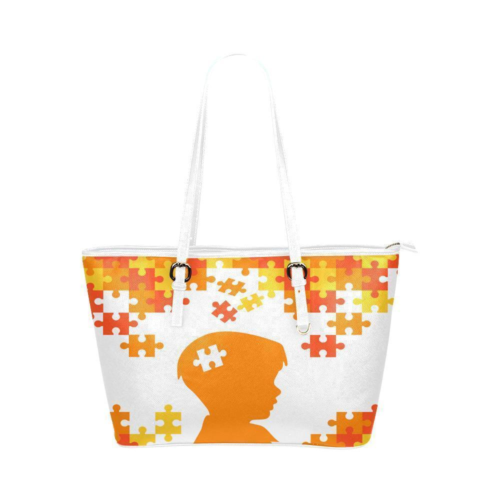 Autism Awareness #1 Water Resistant Leather Tote Bags (5 colors)-NeatFind.net