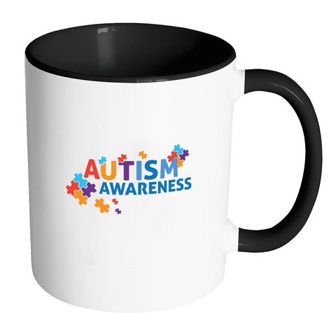 Autism Awareness 11oz Accent Coffee Mug(7 Colors)-NeatFind.net