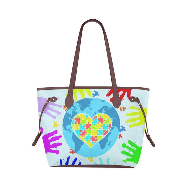 Autism Awareness #2 Water Resistant Canvas Tote Bags (4 colors)-NeatFind.net
