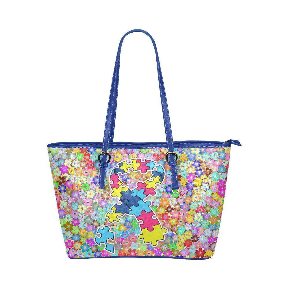 515639f5386d Autism Awareness #3 Water Resistant Leather Tote Bags (5 colors ...