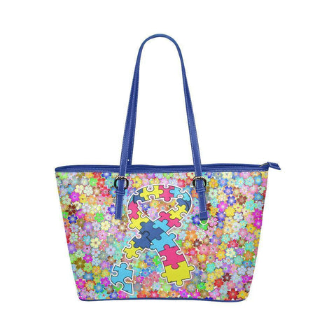 Autism Awareness #3 Water Resistant Leather Tote Bags (5 colors)-NeatFind.net