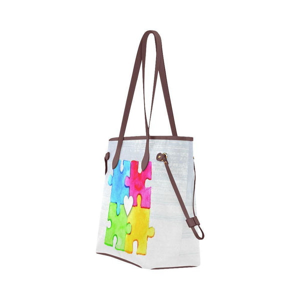 Autism Awareness #4 Water Resistant Canvas Tote Bags (4 colors)-NeatFind.net