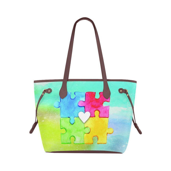 Autism Awareness #5 Water Resistant Canvas Tote Bags (4 colors)-NeatFind.net