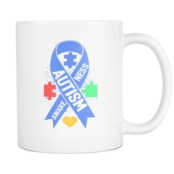 Autism Awareness V2 White 11oz Coffee Mug-NeatFind.net