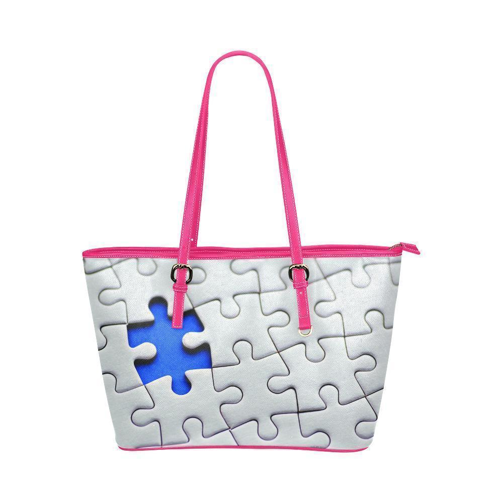 fa6f9c61a01f Autism Awareness Water Resistant Leather Tote Bags (5 colors ...