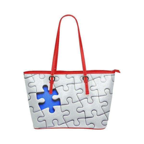Autism Awareness Water Resistant Leather Tote Bags (5 colors)-NeatFind.net