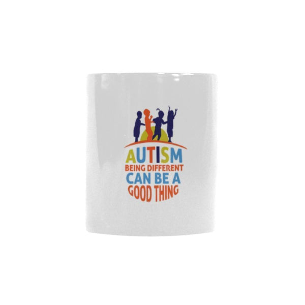 Autism Being Different Can Be A Good Thing Autism Awareness Color Changing/Morphing 11oz Coffee Mug-NeatFind.net