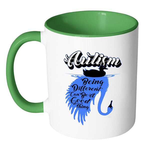 Autism Being Different Can Be A Good Thing Autism Awareness V2 11oz Accent Coffee Mug (7 colors)-NeatFind.net