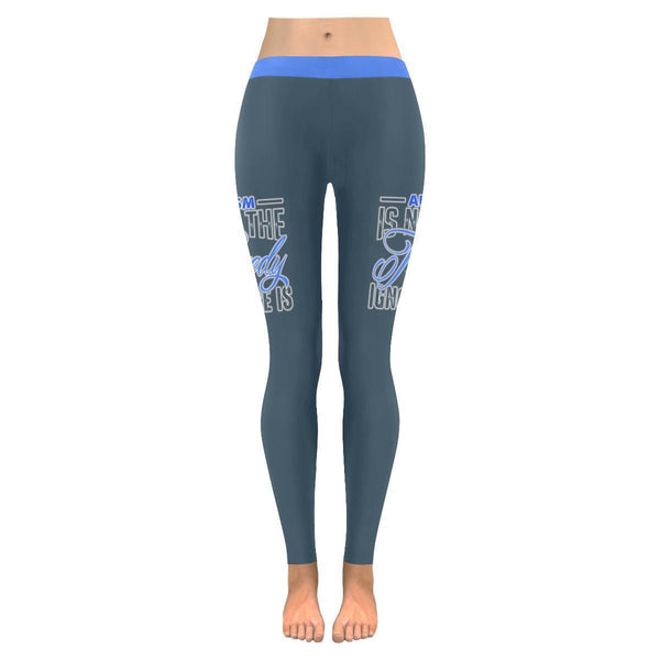 Autism Is Not The Tragedy Ignorance Is Special Needs Teacher Gift Women Leggings-NeatFind.net