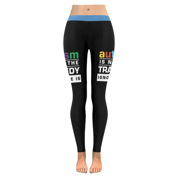 Autism Is Not The Tragedy Ignorance Is Spectrum Disorder Teacher Womens Leggings-NeatFind.net