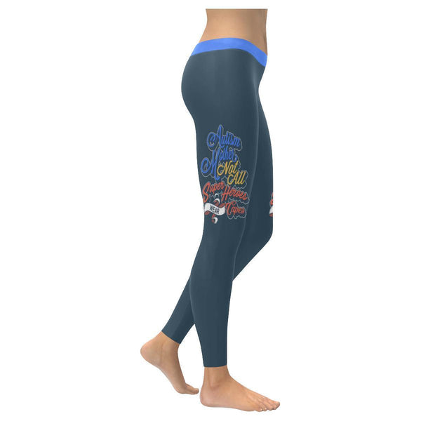 Autism Mother Not All Super Heroes Wear Cape Special Need Mom Gift Women Legging-NeatFind.net