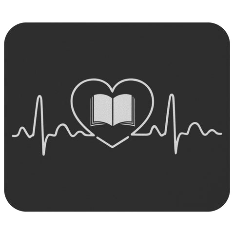Avid Reader Pulse Book Lover Heart Beat Fun Cute Funny Lover Gift Idea Mousepad-NeatFind.net