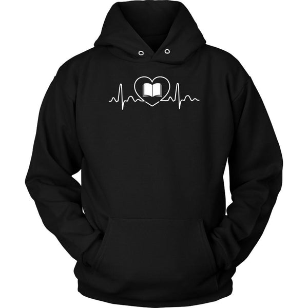 Avid Reader Pulse Book Lovers Heart Beat Bibliophile Bookworm Gift Ideas Hoodie-NeatFind.net