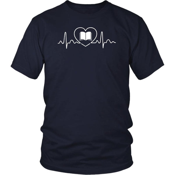 Avid Reader Pulse Book Lovers Heart Beat Bibliophile Bookworm Gift Ideas TShirt-NeatFind.net