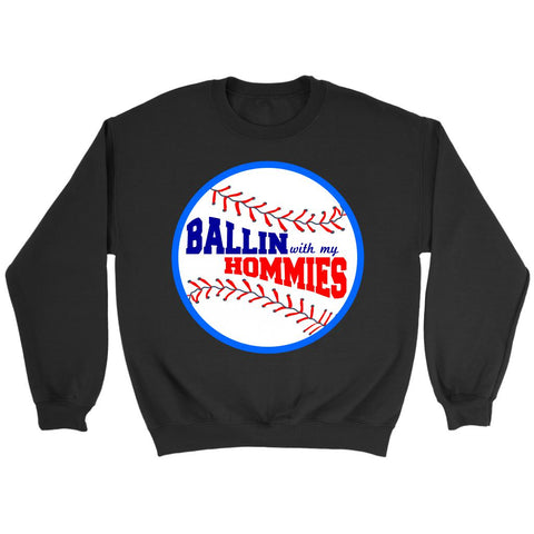 Ballin With My Homies Funny Softball Baseball Mom Quirky Gift Idea Cool Sweater-NeatFind.net