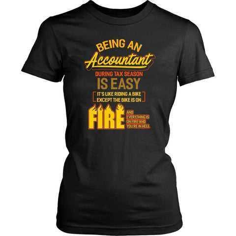 Being An Accountant During Tax Season Is Easy Bike Hell Women T-Shirt-NeatFind.net