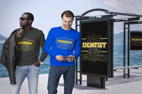 Best Dentist In The Galaxy Awesome Cool Humor Dental Funny Gift Ideas Sweater-NeatFind.net