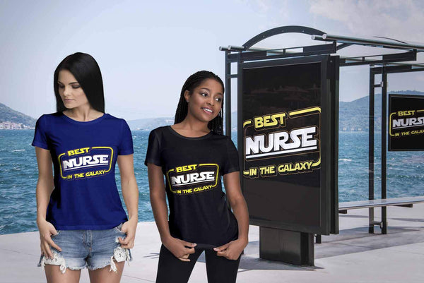 Best Nurse In The Galaxy Awesome Best Cool Nurses Week Gifts Ideas Women T-Shirt-NeatFind.net