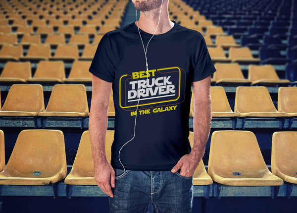 Best Truck Driver In The Galaxy Practical Funny Truckers Gifts Unisex T-Shirt-NeatFind.net