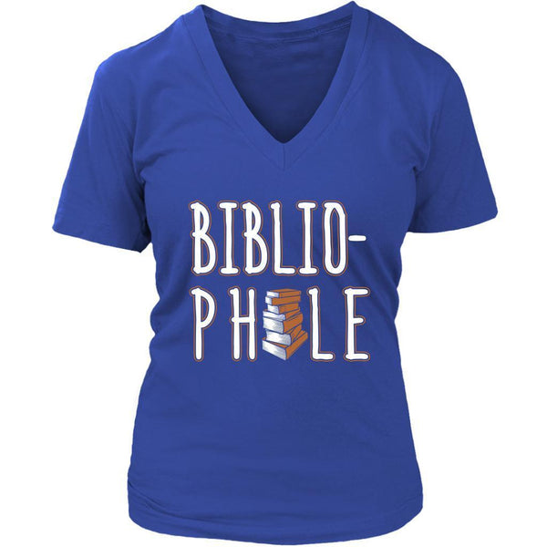 Bibliophile Bookworms Book Lovers Funny Avid Readers Gift Ideas Vneck TShirt-NeatFind.net