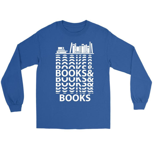 Books & Books Bibliophile Bookworm Book Lover Avid Reader Gift Ideas Long Sleeve-NeatFind.net