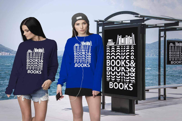 Books & Books Bibliophile Bookworms Book Lovers Avid Readers Gift Ideas Sweater-NeatFind.net