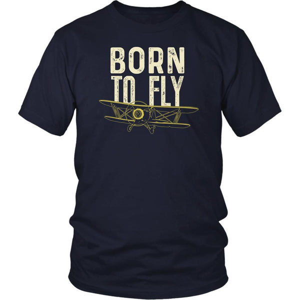 Born To Fly Awesome Humor Gag Unique Aviation Gifts Funny Gift Ideas TShirt-NeatFind.net